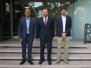 Em reuneixo amb el president del Club Tennis Urgell, seu de la Copa de la Reina de tennis