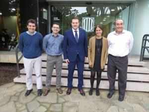 Em reuneixo amb la nova junta directiva de la Societat Catalana de Medicina de l'Esport