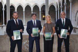 El president de la Generalitat rep el president de la Federació Catalana de Futbol