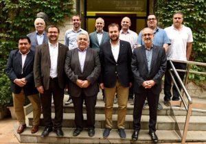 Em reuneixo amb el nou consell directiu de la Unió de Consells Esportius de Catalunya