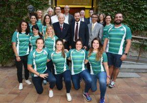 Felicito les jugadores de rugbi del Club Esportiu INEF Barcelona per l'històric triplet de títols assolit la temporada passada