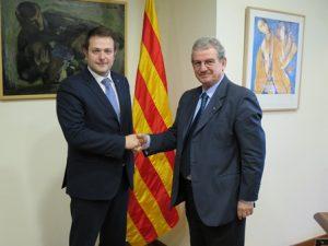 Em reuneixo amb el vicesíndic de l'Alguer en la seva visita a Catalunya