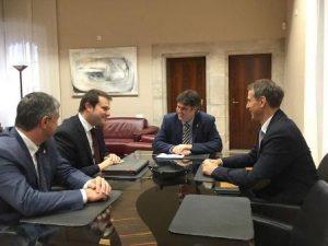 Faig una visita institucional a Girona