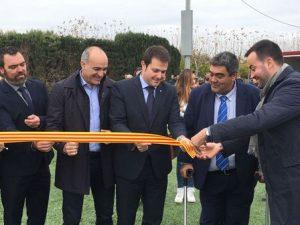 Inaugurada la gespa artificial del Camp de Futbol de Sant Jaume d'Enveja