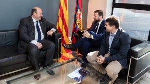 Ens reunim amb el FC Barcelona per avançar cap al Pacte Nacional de l'Activitat Física i l'Esport de Catalunya