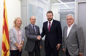 Reunió amb la nova junta directiva del Reial Club Marítim de Barcelona
