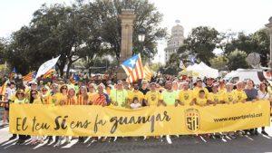 La Secretaria General de l'Esport participa activament en la celebració de la Diada Nacional de Catalunya
