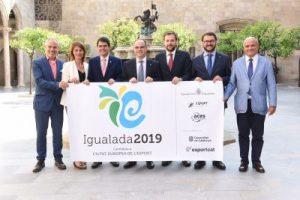 El Govern expressa el suport a la candidatura d'Igualada com a Ciutat Europea de l'Esport 2019