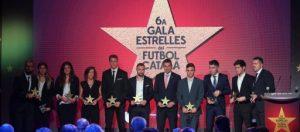 Entregats els guardons de la 6a Gala de les Estrelles del Futbol Català