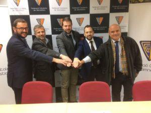 Signat el conveni entre la Federació Catalana de Gimnàstica i el Gràcia Gimnàstic Club per a la cessió de material esportiu