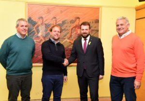 Em reuneixo amb el president de la Federació Catalana de Pitch and Putt