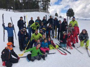 Visito una sessió del programa Esport Blanc Escolar a l'estació d'esquí nòrdic de Tuixent-La Vansa