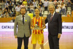 La selecció catalana femenina absoluta de bàsquet supera Montenegro en el seu retorn després de 6 anys