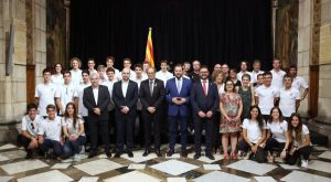 Rebem la selecció catalana d'Esquí de Muntanya i el Club Vic Tennis Taula