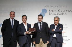 Jaume Plensa, Andrés Iniesta i Garbiñe Muguruza, guardonats amb els premis Sport Cultura Barcelona 2017