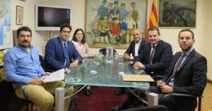 Reunions amb l'Institut Nacional d'Educació Física de Catalunya i el Col·legi de l'Advocacia de Barcelona per la nova llei de l'Activitat Física i de l'Esport