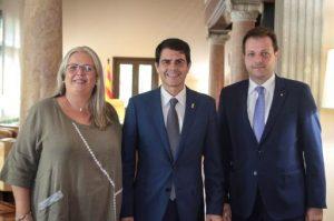 Em reuneixo amb el president de la Diputació de Barcelona