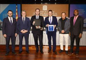 Trobada amb la Federació Internacional de Pilota Basca amb motiu dels Mundials de Barcelona