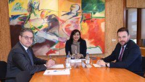 Trobada a Madrid amb la presidenta del CSD, María José Rienda
