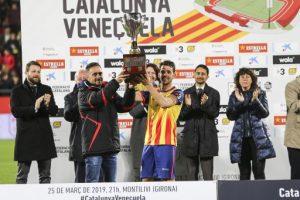La selecció catalana de futbol torna a competir i a engrescar amb un triomf destacat contra Veneçuela