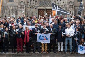 El món de la vela catalana protesta a Barcelona contra la Llei de Costes