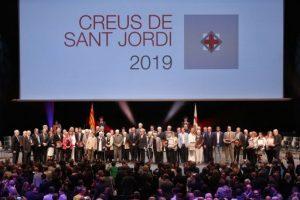 El futbolista Leo Messi i l'atleta de muntanya Núria Picas reben la Creu de Sant Jordi 2019