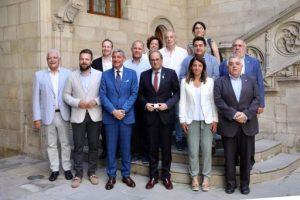 El president Torra i la consellera Budó reben els organitzadors dels World Sports Games Tortosa 2019