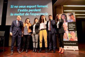 El CAC, la Generalitat i la CCMA impulsen la campanya #ThoEstàsPerdent per fomentar l'esport femení en els mitjans
