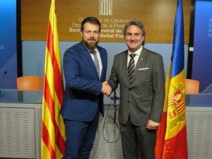 La Generalitat de Catalunya i el Govern d'Andorra estrenyen llaços de col·laboració en matèria esportiva