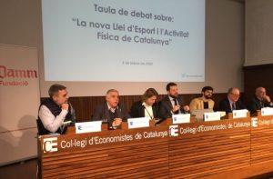 Debat sobre la nova Llei de l'Esport i l'Activitat Física de Catalunya al Col·legi d'Economistes de Catalunya