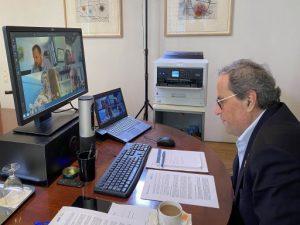 """El president Torra agraeix al sector de l'esport el """"sacrifici extraordinari"""" davant la COVID-19"""