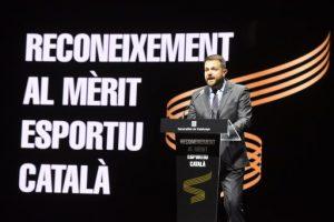 La consellera Budó destaca la contribució de Josep Lluís Vilaseca i Gerard Piqué per mantenir Catalunya com un referent esportiu arreu del món